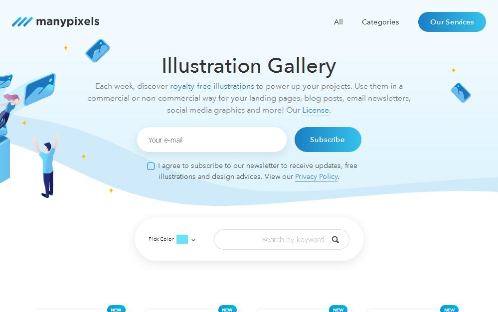 ManyPixels illustrations